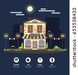 flat style modern icon design... | Shutterstock .eps vector #653538433
