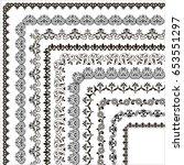 set of vector frames and... | Shutterstock .eps vector #653551297