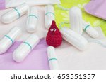 menstruation sanitary soft pads ... | Shutterstock . vector #653551357