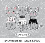 vector series with cute fashion ... | Shutterstock .eps vector #653552407