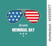 vector happy memorial day card. ... | Shutterstock .eps vector #653555377