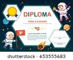 education preschool concept.... | Shutterstock .eps vector #653555683
