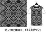 ethnic geometric pattern.... | Shutterstock .eps vector #653559907