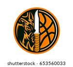 modern animal sports team badge ... | Shutterstock .eps vector #653560033