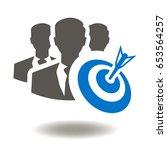 team target business success... | Shutterstock .eps vector #653564257