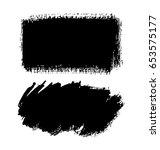 brush strokes isolated. ink... | Shutterstock .eps vector #653575177