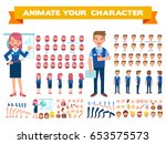 flat vector office workers for... | Shutterstock .eps vector #653575573