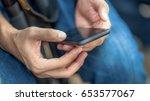 financial technology  fintech ... | Shutterstock . vector #653577067