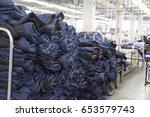 garment factory  clothes... | Shutterstock . vector #653579743