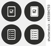 checklist vector icons set