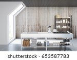 front view of an interior of an ...   Shutterstock . vector #653587783