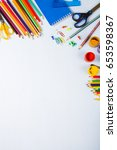 back to school. items for the... | Shutterstock . vector #653598367