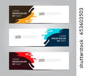 vector abstract design banner... | Shutterstock .eps vector #653603503