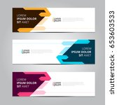 vector abstract design banner... | Shutterstock .eps vector #653603533