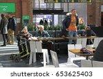 malmo  sweden   april 22  2017  ... | Shutterstock . vector #653625403