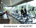 blurred fitness gym exercise... | Shutterstock . vector #653628787