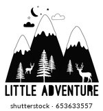 little adventure slogan with... | Shutterstock .eps vector #653633557
