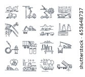 set of thin line icons public