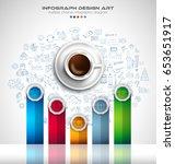 infograph background template... | Shutterstock .eps vector #653651917