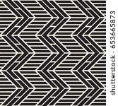 vector seamless black and white ... | Shutterstock .eps vector #653665873