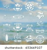 summer typography design... | Shutterstock .eps vector #653669107