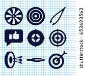 set of 9 accuracy filled icons...