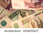 Close Up Russian Currency Note...