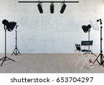studio equipment in studio room ... | Shutterstock . vector #653704297