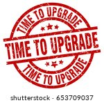time to upgrade round red... | Shutterstock .eps vector #653709037