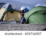 idomeni  greece   march 2  2016....   Shutterstock . vector #653716507