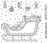 decorative holiday element for... | Shutterstock .eps vector #653717017