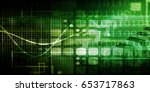 disruptive technology and... | Shutterstock . vector #653717863