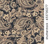 ornate damask background.... | Shutterstock .eps vector #653730277