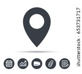 location icon. map pointer... | Shutterstock .eps vector #653731717