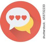 romantic chat vector icon