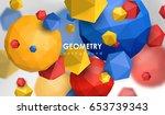 abstract poligonal background.... | Shutterstock .eps vector #653739343
