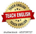 teach english round isolated...   Shutterstock .eps vector #653739727