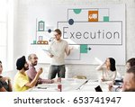 people working on network...   Shutterstock . vector #653741947
