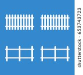 white picket fence. vector... | Shutterstock .eps vector #653743723