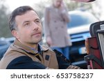 young woman and mechanic... | Shutterstock . vector #653758237