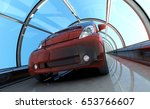 Sports Car In The Tunnel. 3d...