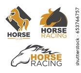 horse racing sport club vector