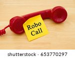 getting a call from a robocall  ...