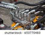 close up of pipe system of... | Shutterstock . vector #653770483