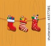 christmas socks | Shutterstock .eps vector #65377381
