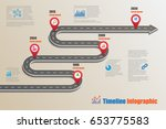 design template  road map... | Shutterstock .eps vector #653775583
