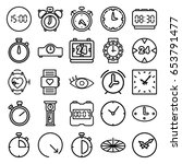 watch icons set. set of 25... | Shutterstock .eps vector #653791477