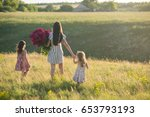 family portrait of mother with... | Shutterstock . vector #653793193