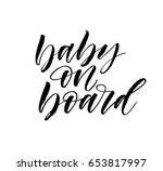 baby on board card.ink... | Shutterstock .eps vector #653817997