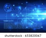 vector abstract hi tech... | Shutterstock .eps vector #653820067